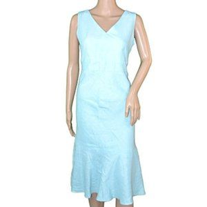 NWT AT Loft Blue Sleeveless Trumpet Sheath Dress 4